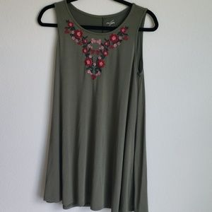 Francescas Closet Alya Dress with Embroidered Flow